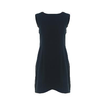 back pleats detail dress